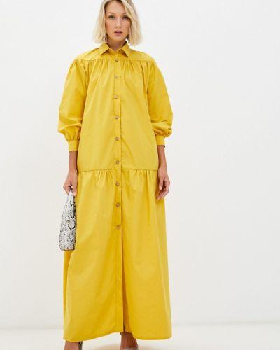 Платье рубашка - желтое Chic De Femme