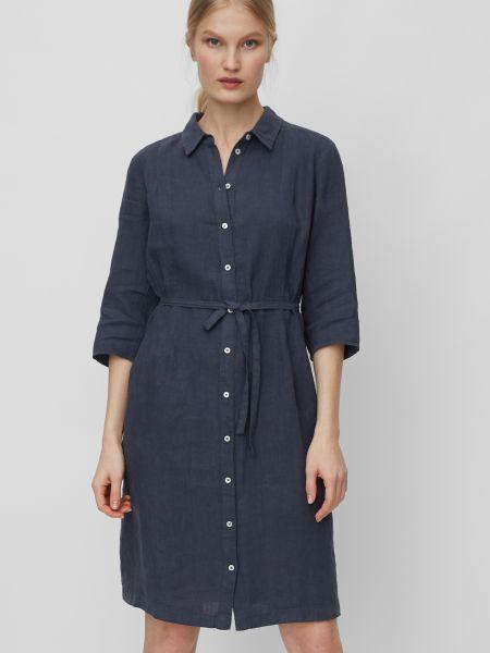 Брендовое платье-рубашка для офиса Marc O'polo