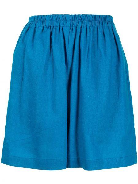 С завышенной талией синие шорты эластичные Bambah