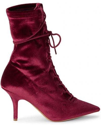 Кожаные ботинки на каблуке на шнуровке Yeezy
