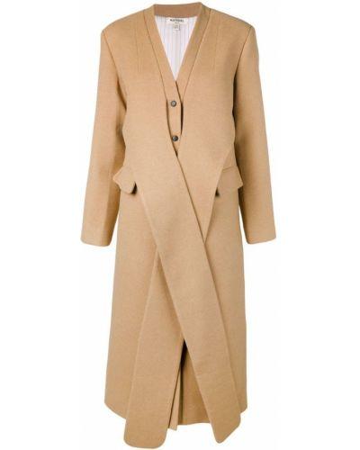 Однобортное длинное пальто с капюшоном на пуговицах Matériel