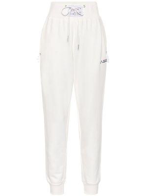Białe spodnie bawełniane vintage Adam Selman Sport