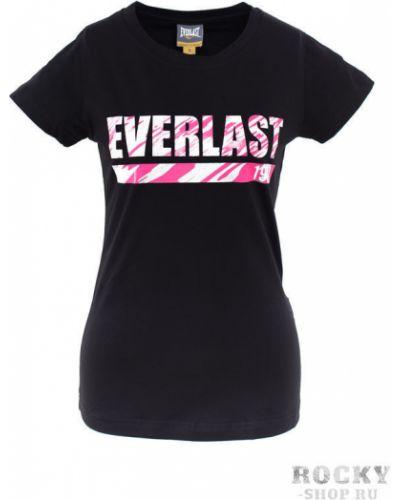 Спортивная футболка черная камуфляжная Everlast