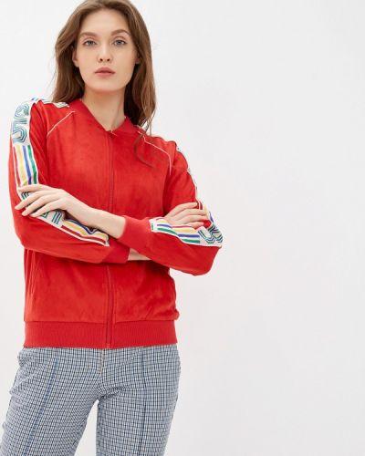 Утепленная куртка осенняя красная United Colors Of Benetton