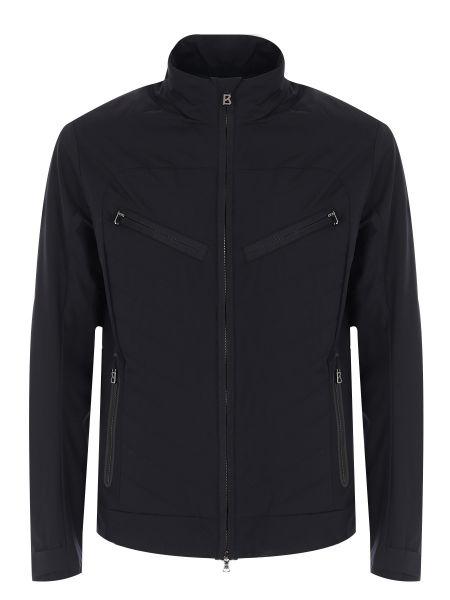 Черная стеганая куртка на молнии с карманами с воротником Bogner