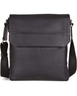 Мерцающая черная текстильная сумка через плечо Ecco