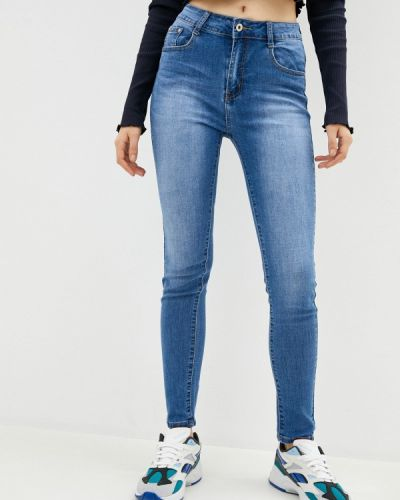 Синие джинсы-скинни узкого кроя Bruebeck