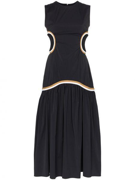Платье миди с заниженной талией из штапеля Markoo