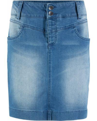 Джинсовая юбка синяя Bonprix