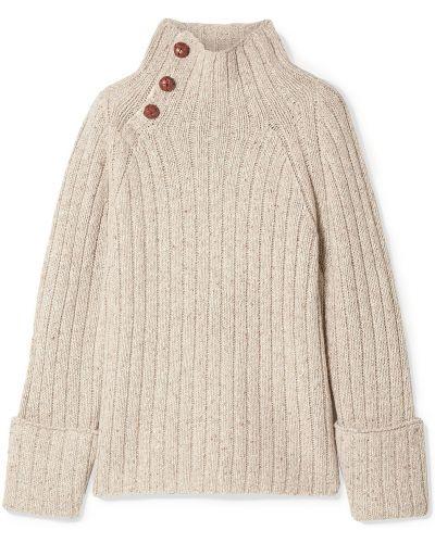 Prążkowany beżowy sweter wełniany Rag & Bone