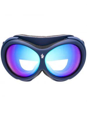 Массивные солнцезащитные очки хаки круглые Moncler Eyewear