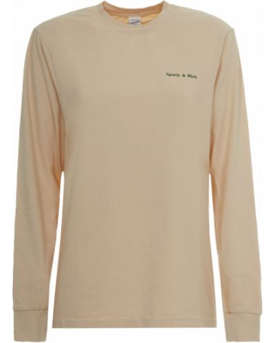 Beżowa longsleeve Sporty And Rich