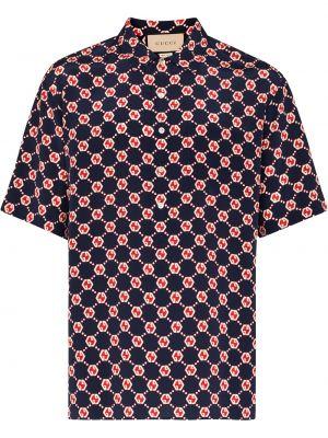 Koszula z jedwabiu - czarna Gucci