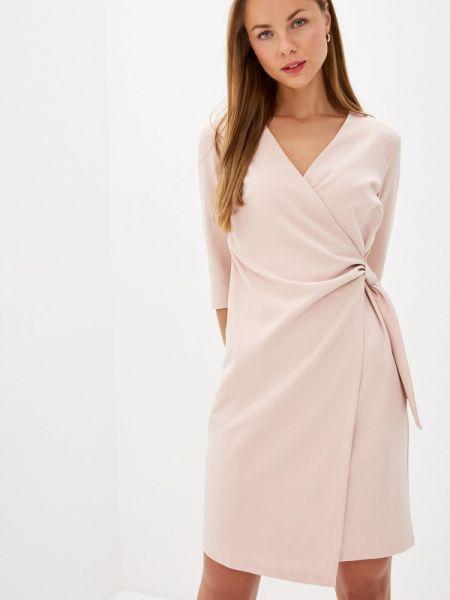 Однобортное розовое платье Rinascimento