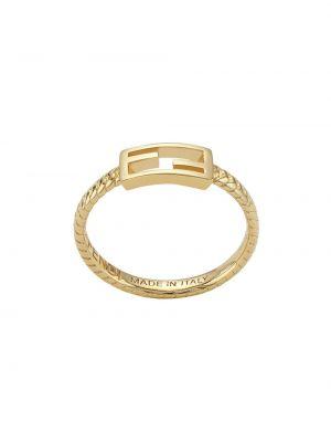 Chudy pierścień złoto Fendi