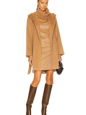 Открытое пальто из верблюжьей шерсти с карманами Max Mara