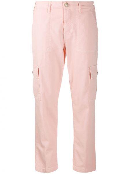 Укороченные брюки розовый стрейч Jacob Cohen