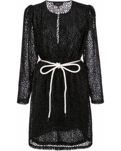 Бархатное платье мини с вырезом эластичное Robert Rodriguez Studio
