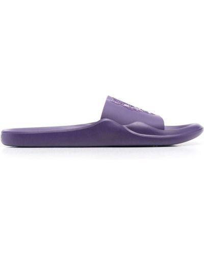 Фиолетовые резиновые шлепанцы Kenzo