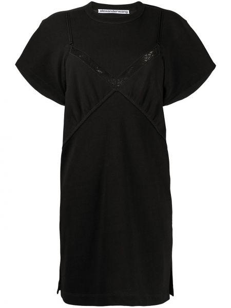 Платье мини с открытой спиной с разрезами по бокам Alexander Wang