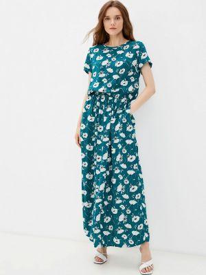 Зеленое повседневное платье Tenerezza