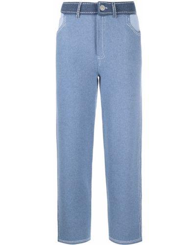Брючные хлопковые синие брюки Barrie