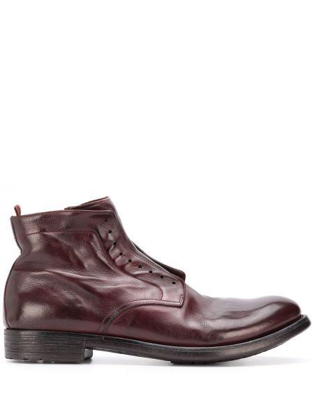 Czerwony buty na wysokości z prawdziwej skóry z ozdobnym wykończeniem Officine Creative