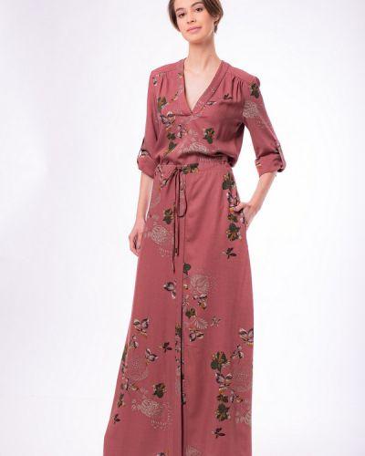 Платье из вискозы красный Argent