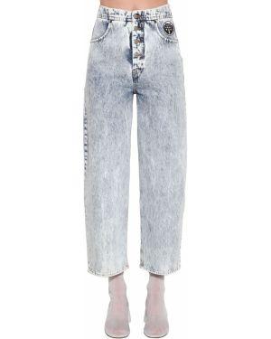 Расклешенные джинсы свободные mom Mm6 Maison Margiela