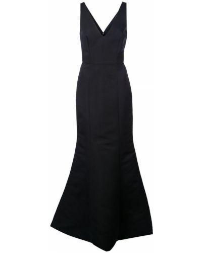 Расклешенное приталенное платье на молнии Amsale