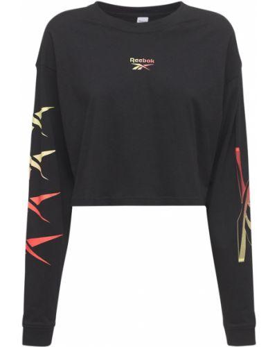 Черная футболка с длинными рукавами Reebok Classics