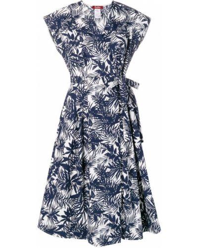 Платье мини с запахом с V-образным вырезом Max Mara Studio