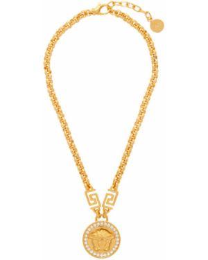 Ожерелье из золота хрустальный Versace