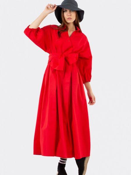 Платье - красное энсо