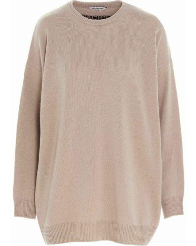Z kaszmiru sweter - beżowy Balenciaga