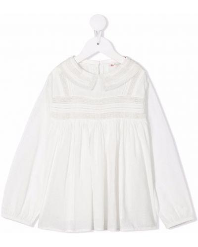 Bluzka z haftem - biała Bonpoint