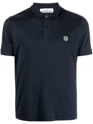 Рубашка с коротким рукавом - синяя Stone Island Junior