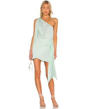 Драповое платье мини на молнии с драпировкой L'academie