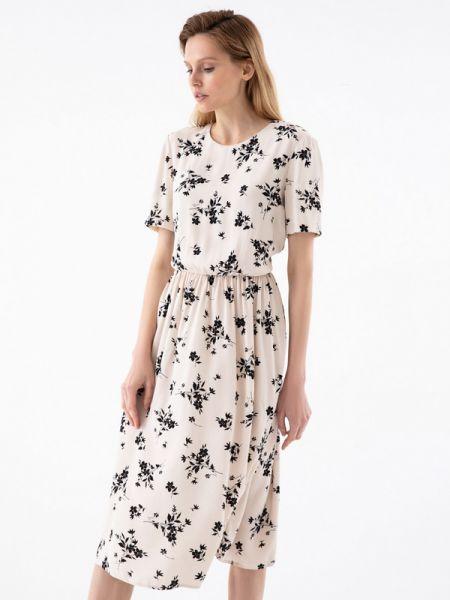 Купальник-платье бежевое платье из вискозы Zarina