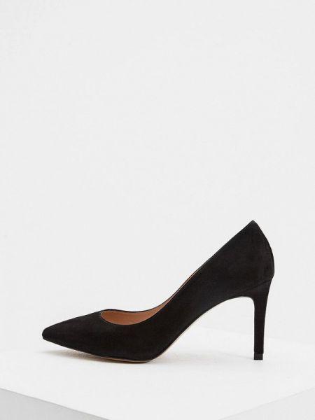 Замшевые туфли черные лодочки Whistles