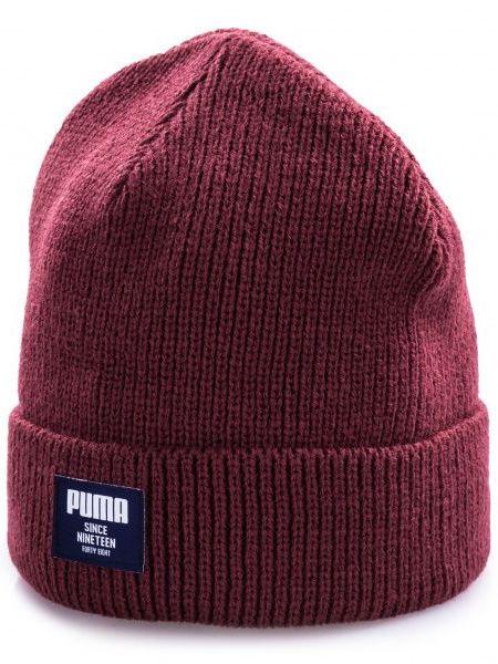 Акриловая шапка - бордовая Puma
