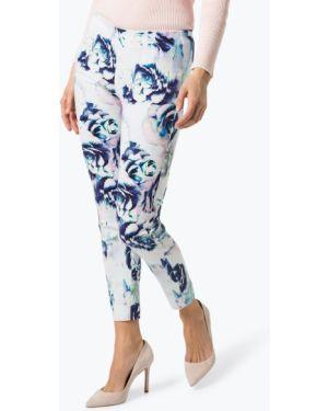 Niebieskie spodnie w kwiaty Rosner