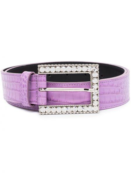 Фиолетовый ремень металлический с пряжкой с поясом Alessandra Rich