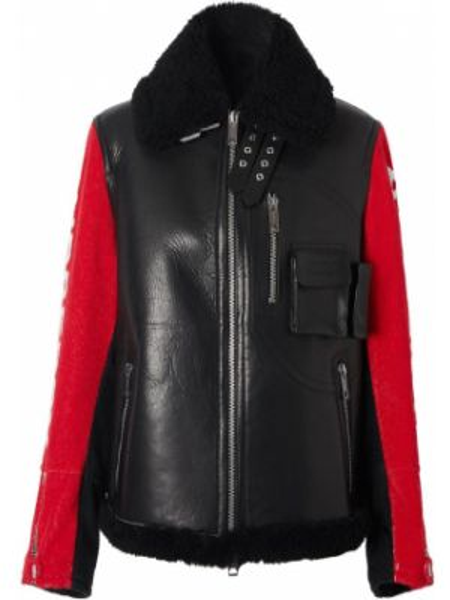 Черная куртка с манжетами с подкладкой на молнии Burberry