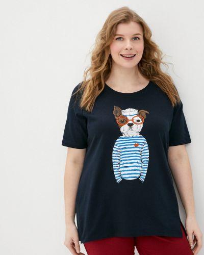 Синяя футболка Ulla Popken