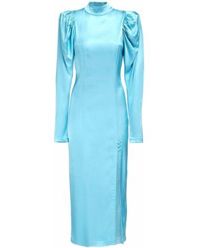 С рукавами однобортное платье миди с воротником на кнопках Rotate