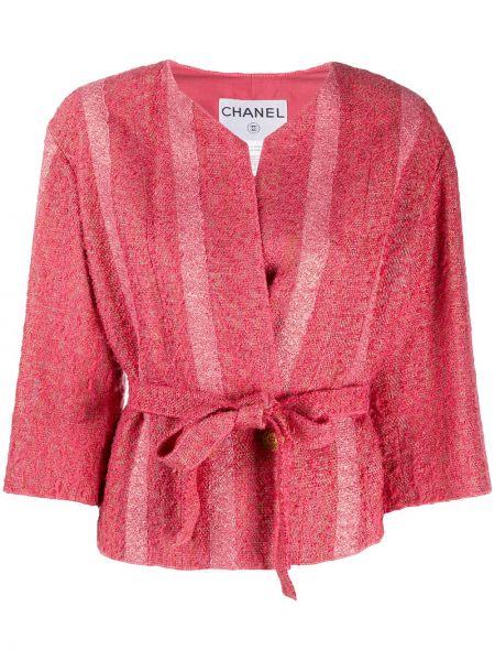 Ватная розовая куртка двубортная Chanel Pre-owned