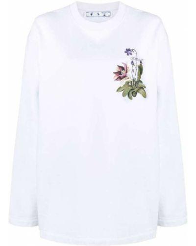 Bluza z długimi rękawami bawełniana z printem Off-white