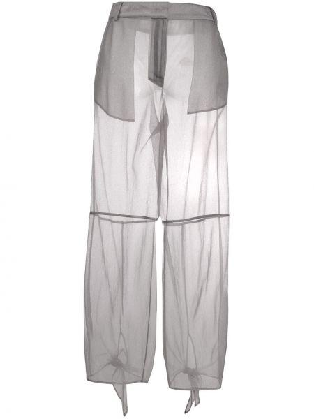 Брюки с воротником с завязками с поясом с манжетами Off-white