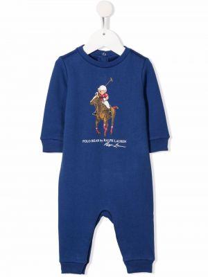 Body prążkowany - niebieski Ralph Lauren Kids